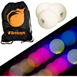 Glow Juggling Ball Set - 3x Slow Fade LED Juggling Balls & Firetoys Bag