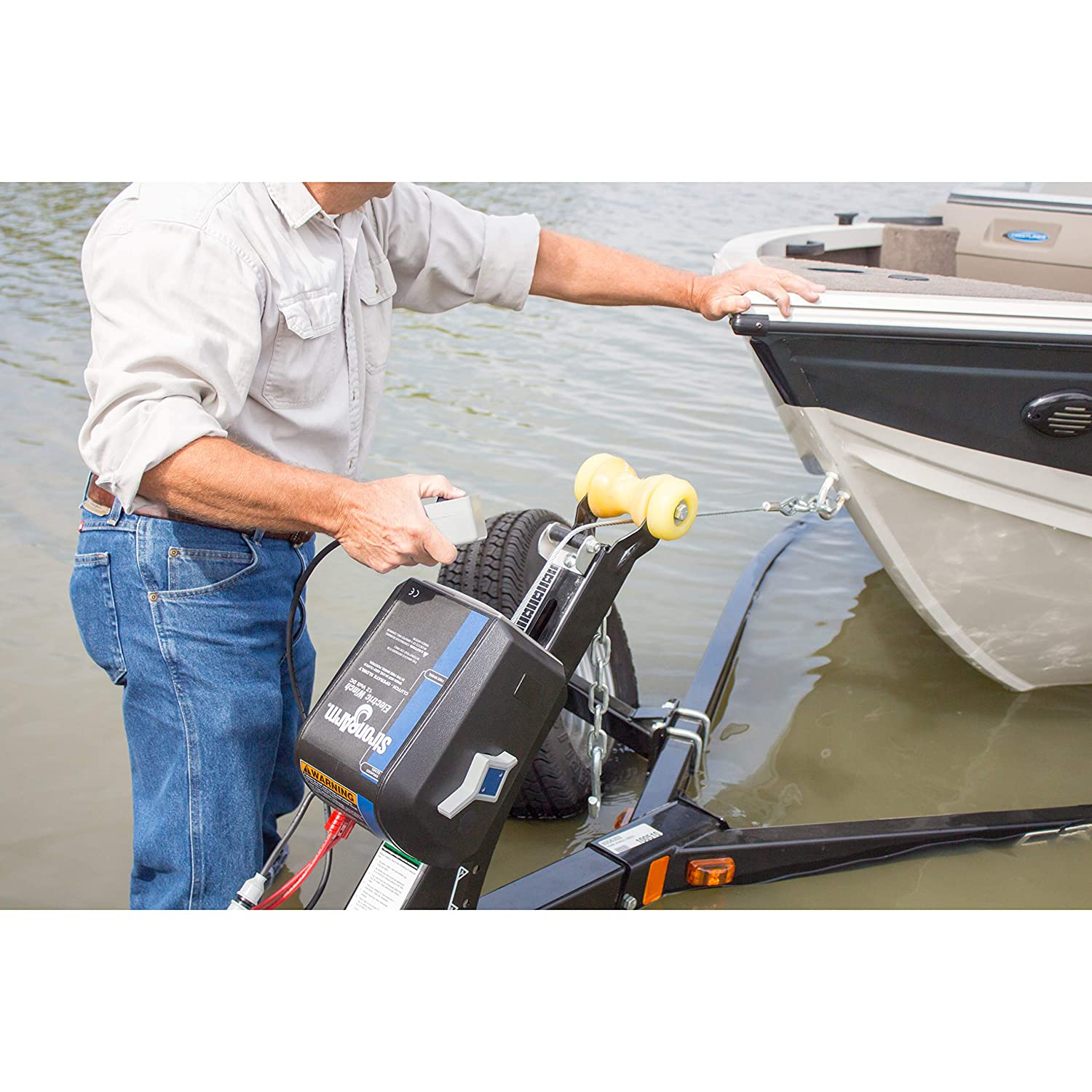 Goldenrod Dutton-Lainson SA9015 12 Volt Electric Winch with Built-in Remote 3000 lb