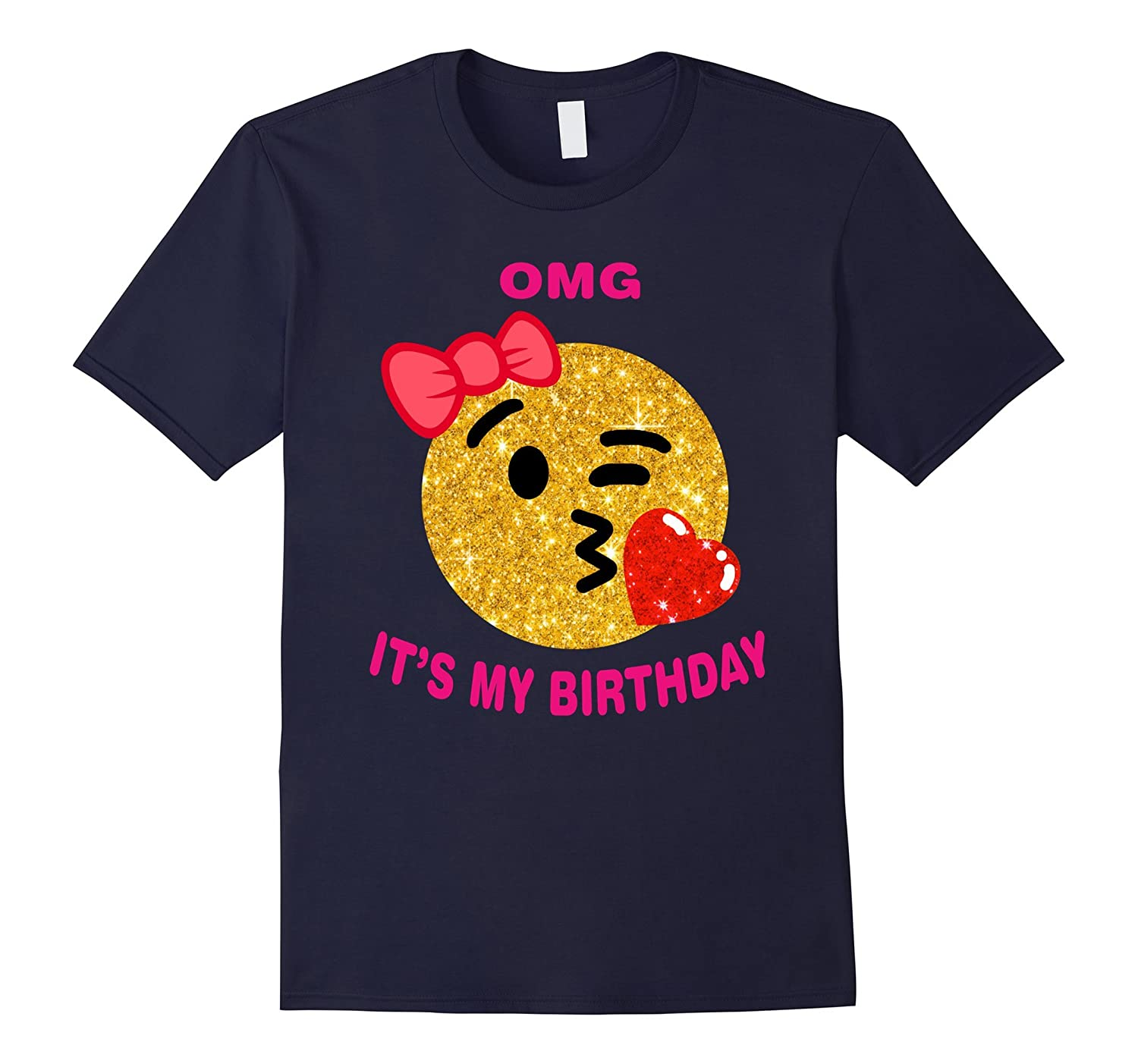It's My Birthday Emoji Pink Shirt-FL