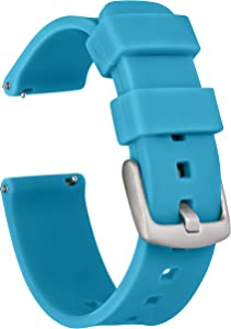 GadgetWraps 20mm Gizmo Watch Silicone Watch Band Strap with Quick Release Pins – Compatible with Gizmo Watch, Samsung, Pebble – 20mm Quick Release Watch Band (Aqua Blue, 20mm)