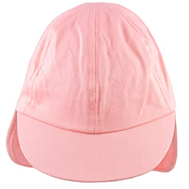 01833227 Pesci Baby Girls Summer Legionnaire Sun Hat Roll Up Neck Flap Pink (12-18  Months): Amazon.co.uk: Clothing