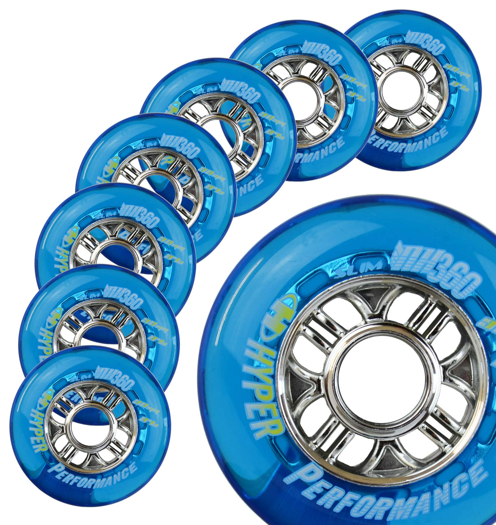 Hyper NX360 Blue - 8 Wheels - 84A - Fitness (Sizes: 80mm, 84mm, 90mm) (80 MM)