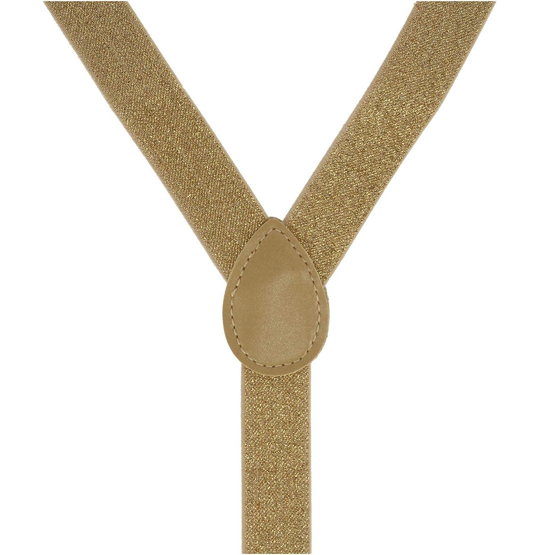 CTM juego de corbata y soporte de lazo dorado brillante para ni/ños