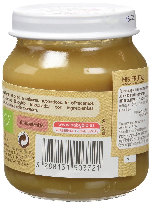 Babybio Potito de Melocotón y Manzana - 260 gr: Amazon.es: Alimentación y bebidas