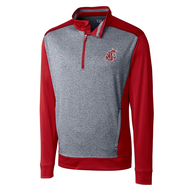 Cardinal Red XLarge NCAA Mens CB Drytec Replay Half Zip