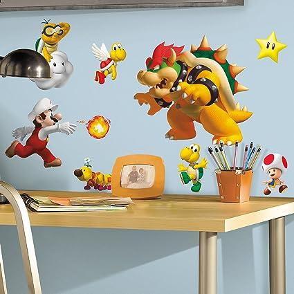 Adesivi Murali Super Mario Bros.Roommates Set Di Adesivi Murali Mario Bros Amazon It Fai Da Te
