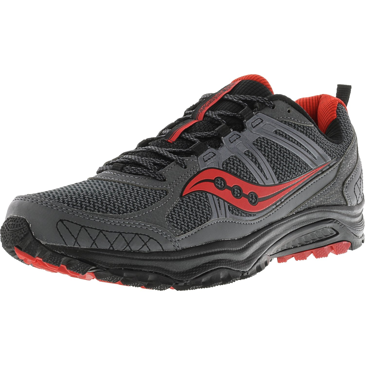 Saucony Grid Excursion TR10 Men's Trail Running Shoes (9, Grey/Black/Red) by Saucony (Image #1)