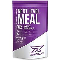Runtime Next Level Meal - vollwertiger Mahlzeitersatz für langanhaltende Sättigung, Energie, Konzentration und Leistungsfähigkeit, mit Vitaminen und Nährstoffen, 1 Portion (150g) (Wild Berries)
