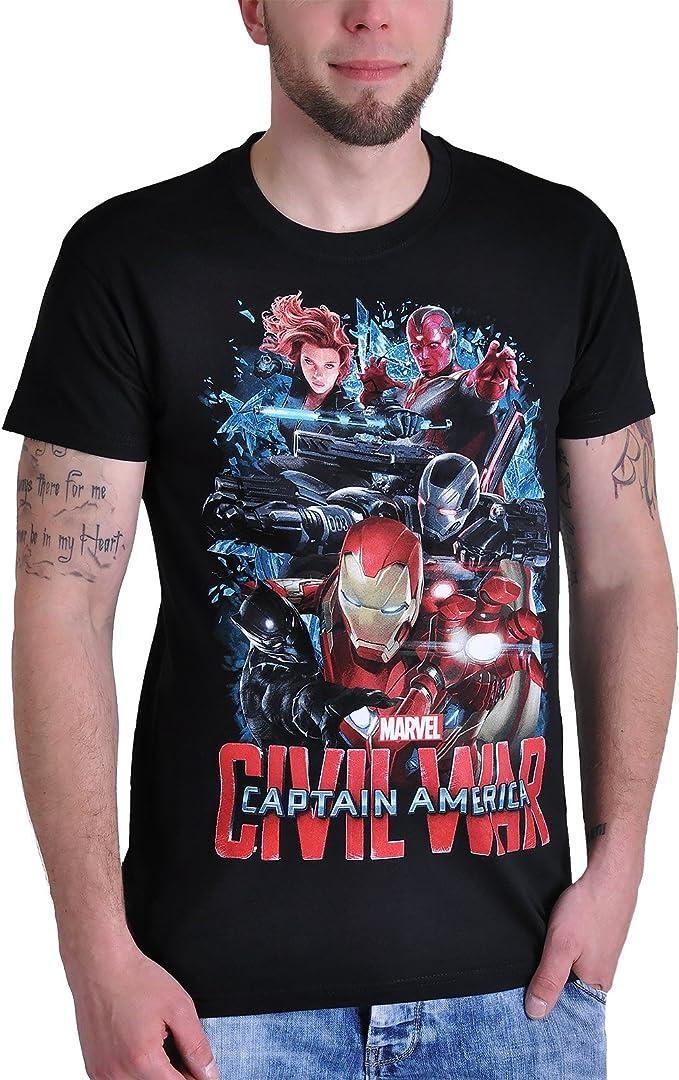 Captain America Civil War - Camiseta - para hombre negro XXXL: Amazon.es: Ropa y accesorios