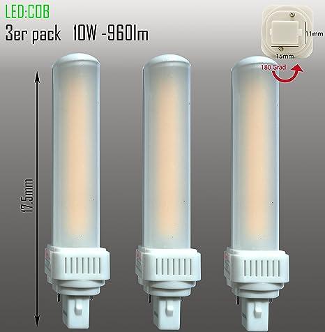 Bombilla LED G24dPL C de 2 pines, PL-C 10W