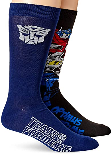 dc1f57dcf30a Image Unavailable. Image not available for. Color: Hasbro Men's  Transformers 2 Pack Crew Socks