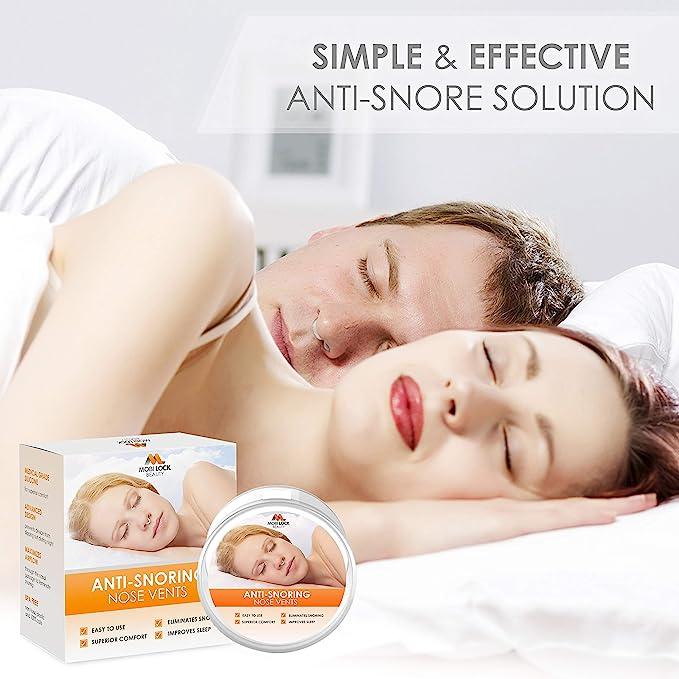 Dilatador antironquidos para el alivio nasal al respirar - Set de 8 dilatadores de silicona anti-ronquidos de nariz de grado médico - Solución antironquidos ...