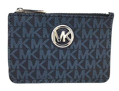 d852a9412a71 Michael Kors Fulton Small Top Zip ID Coinpouch with key Chain (Admiral)