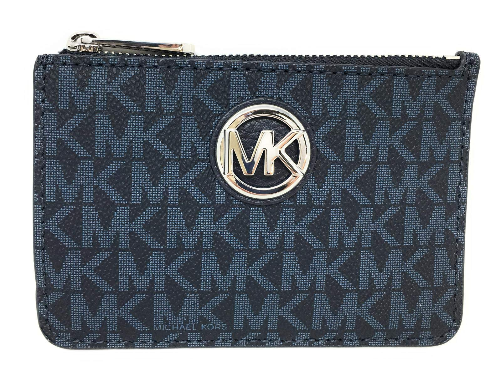 Michael Kors Fulton Small Top Zip ID Coinpouch with key Chain (Admiral) by Michael Kors (Image #1)