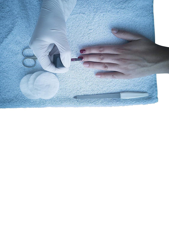 bleu S ARNOMED Lot de 100 gants jetables en nitrile non poudr/és et non poudr/és pour gants dexamen Bleu 100
