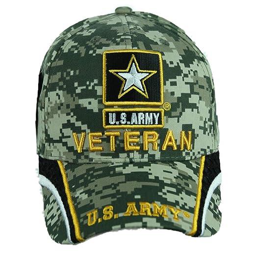 Army Cap Baseball Caps Licensed Veteran Military Hat Camo