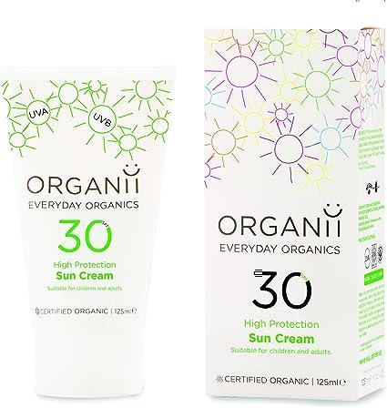 Organii G11105 - Crema Solar SPF30, Natural Orgánica, Protege UVA ...