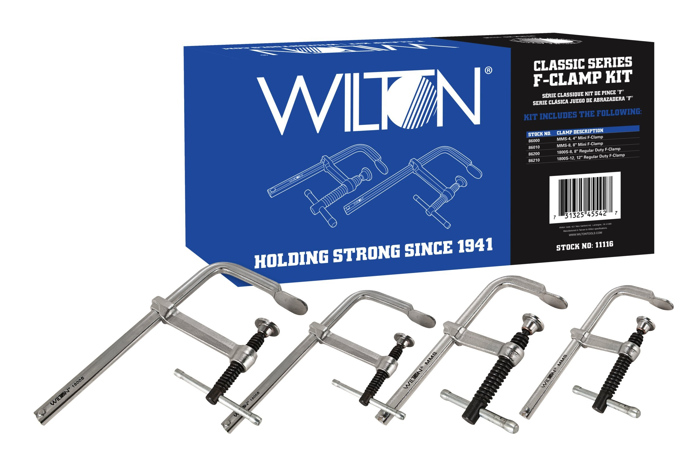 Wilton 11116 Classic Series F-Clamp Kit by Wilton