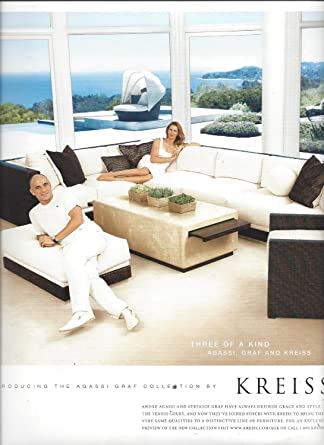 Amazon Com Magazine Advertisement With Andre Agassi Stefanie Graf