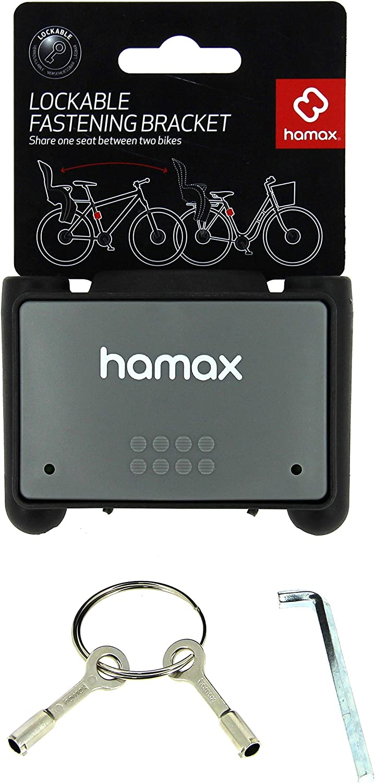 Hamax Child/'s seat Siesta mounting Frame tube lockable grey black