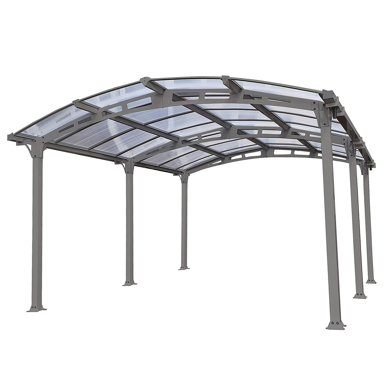 Palram Verona 5000 Carport and Patio Cover, 16' x 10' x 7' 16' x 10' x 7' HG9135