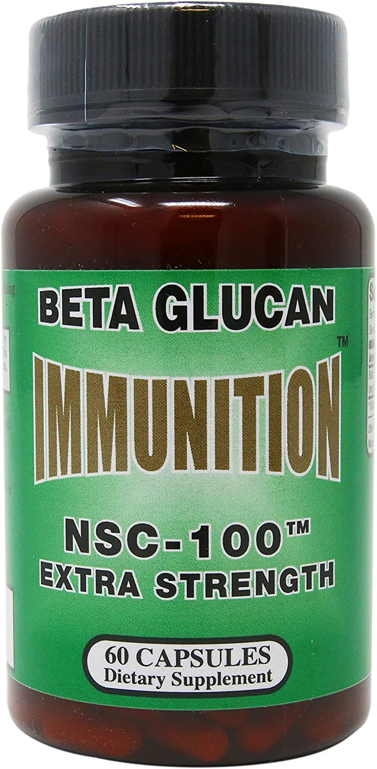 Nutritional Supply Corp Immunition NSC 100 Beta Glucan Extra Strength – 10 mg – 60 Capsules