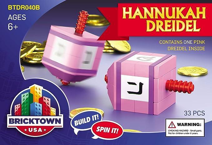 BRICKTOWN USA - HANUKKAH DREIDEL / PINK