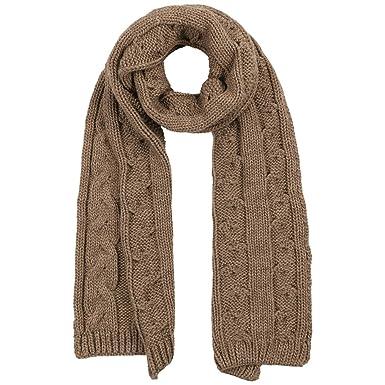 8674dc3081af McBURN Echarpe Britta a Tresses echarpe norvegienne foulard pour femme  (taille unique - beige fonce)  Amazon.fr  Vêtements et accessoires