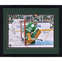 """$139 » Framed Ben Bishop Dallas Stars Autographed 16"""" x 20"""" 2020 NHL Winter Classic Photograph - Autographed NHL Photos"""