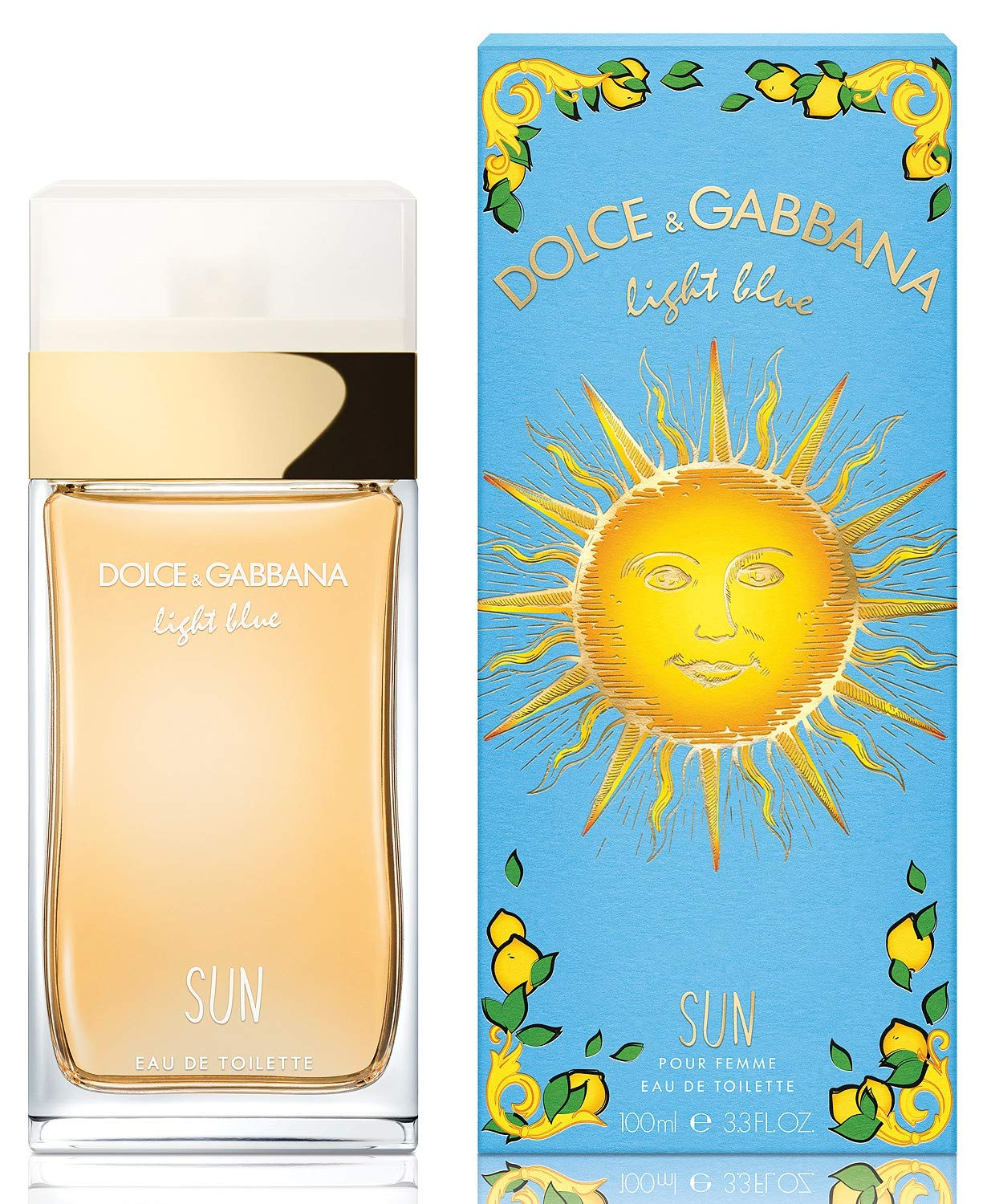 Dolce & Gabbana Light Blue Sun Eau De Toilette Spray for Women, 3.4 Ounce