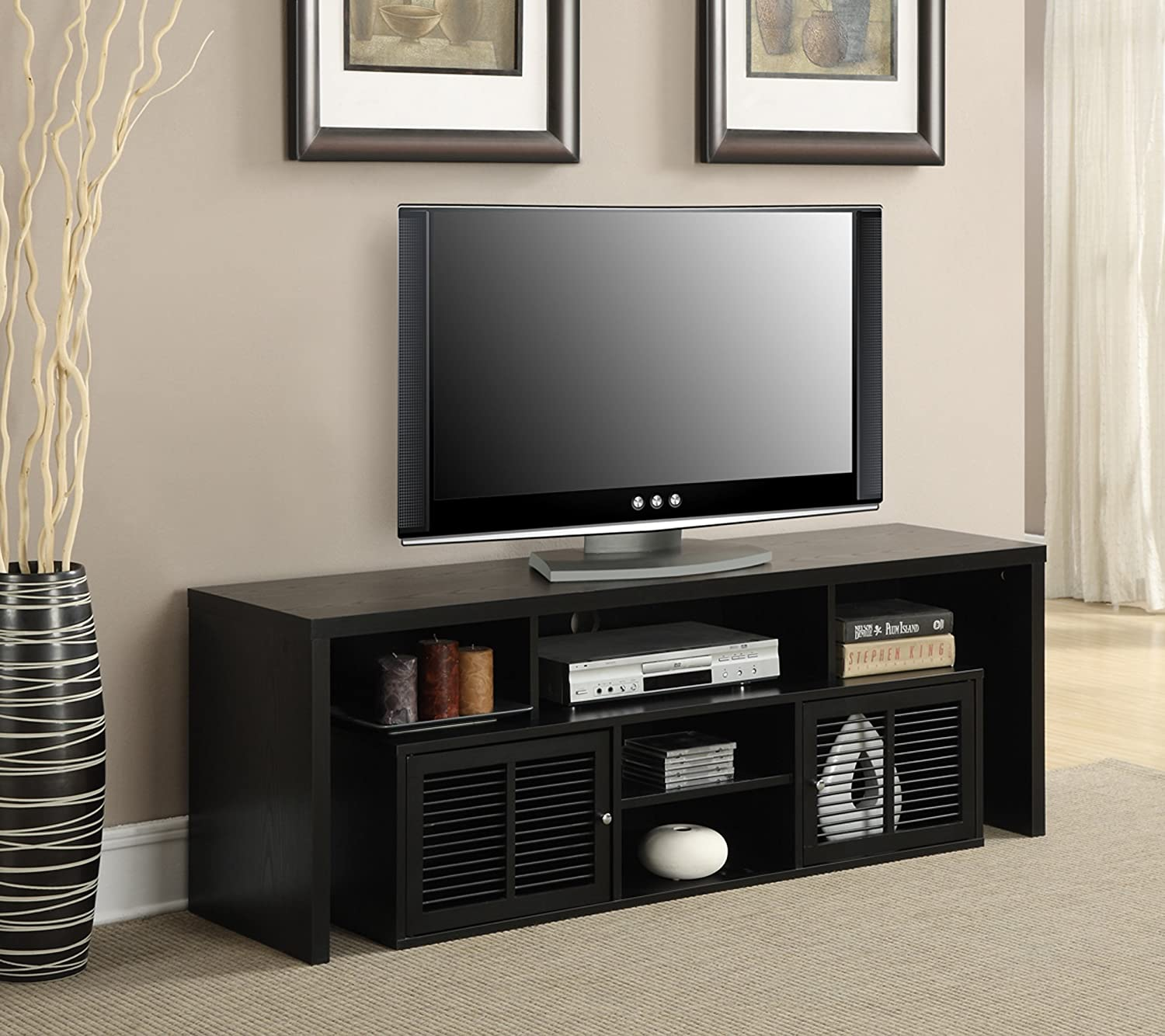 Convenience Concepts Designs2Go Modern Lexington 60-Inch TV Stand, Black