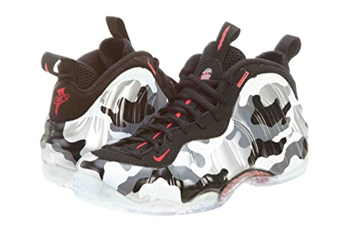 1960e39240b Nike Mens Air Foamposite One PRM Fighter Jet Black Hyper Red-Dark Grey-