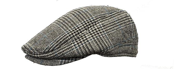 56b7ca1f9bc8 New Men's Heritage Traditions Check Tweed Farmer Festival Flat Cap Hat,  Blue 46, UK