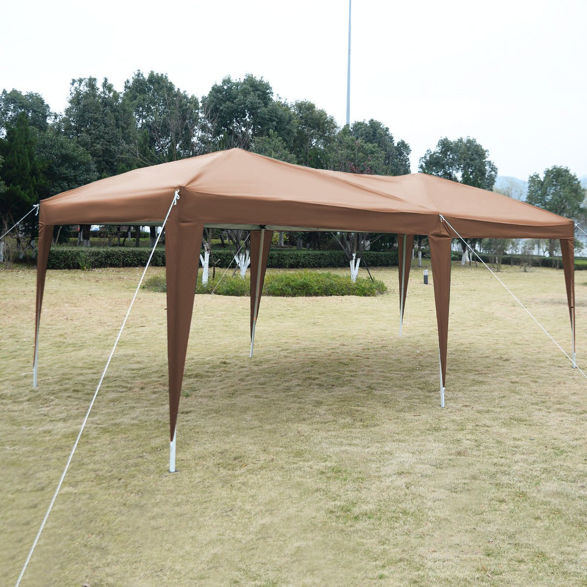 Cafe 10'X20' EZ POP UP Gazebo Wedding Party Tent Folding Canopy Carry Bag Cross-Ba by Tamsun