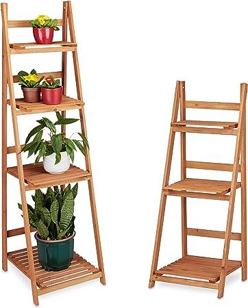 Metall Pflanzenregal Blumenregal Pflanzentreppe 5 Böden Blumentreppe Regal Dekor