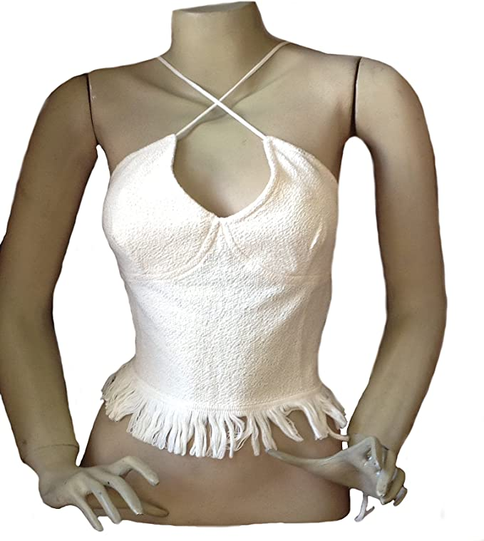 White Alpakaandmore Women Ecological Pyma Cotton Shirt Fringles