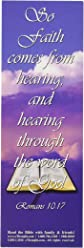 eThought Bible Verse Cards, by - Romans 10:17 - Faith Comes From Hearing - Pack of 25 Bookmark Size Cards (BB-B003-25)