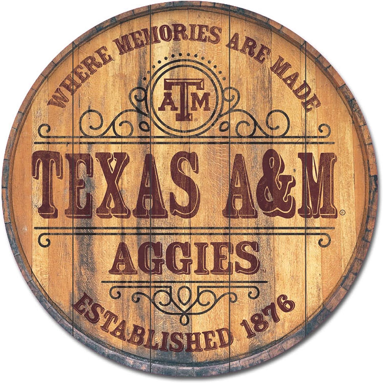 26 x 26 One Size NCAA Legacy Texas A/&M Aggies Barrel Top Wall Mount Wood