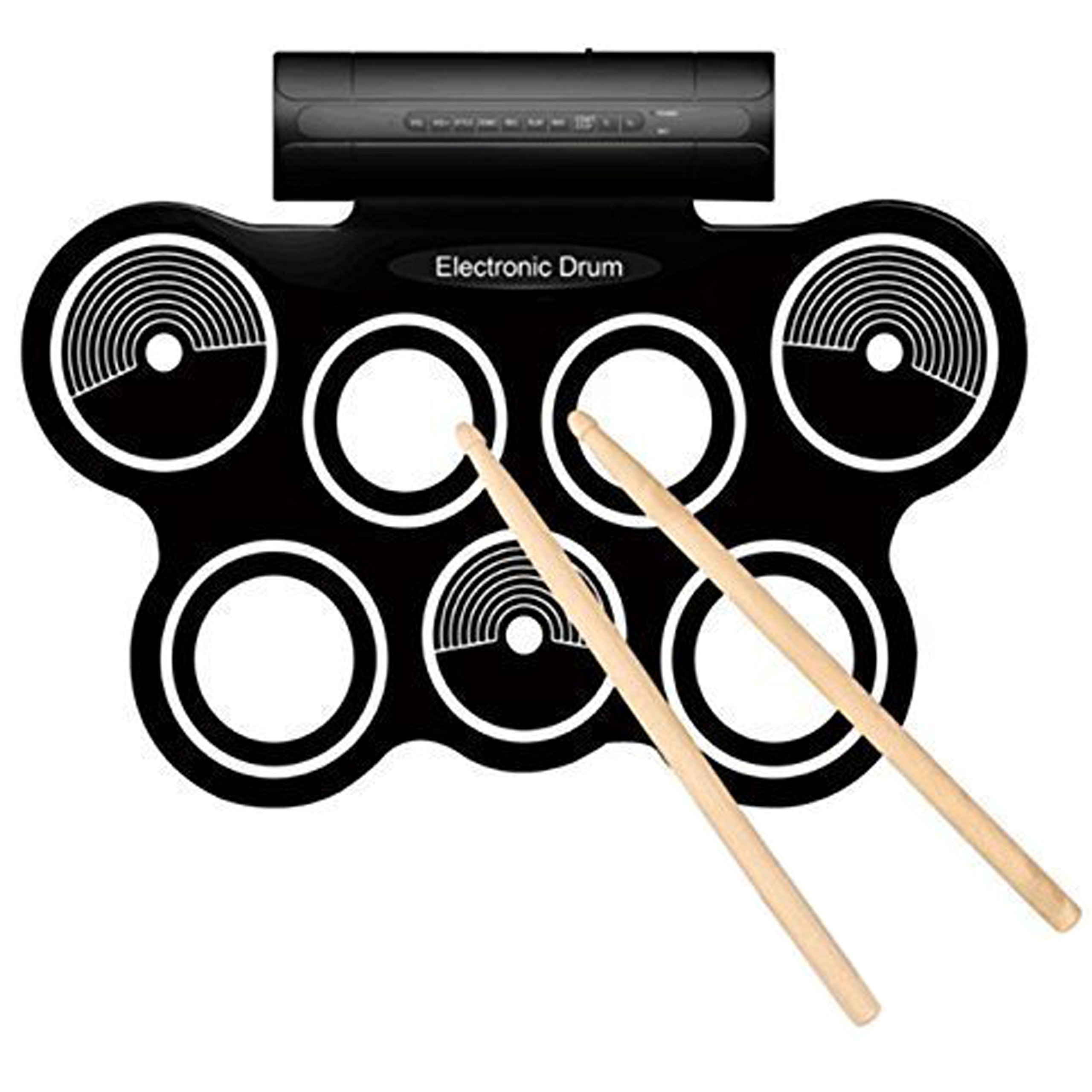 AMAZING Electronic Drum Mat, Includes: 2 Foot Pedals, Built In Speakers, 2 Drumsticks, 12 Demo Songs, Power Supply, Instructions Manual, Plus More!