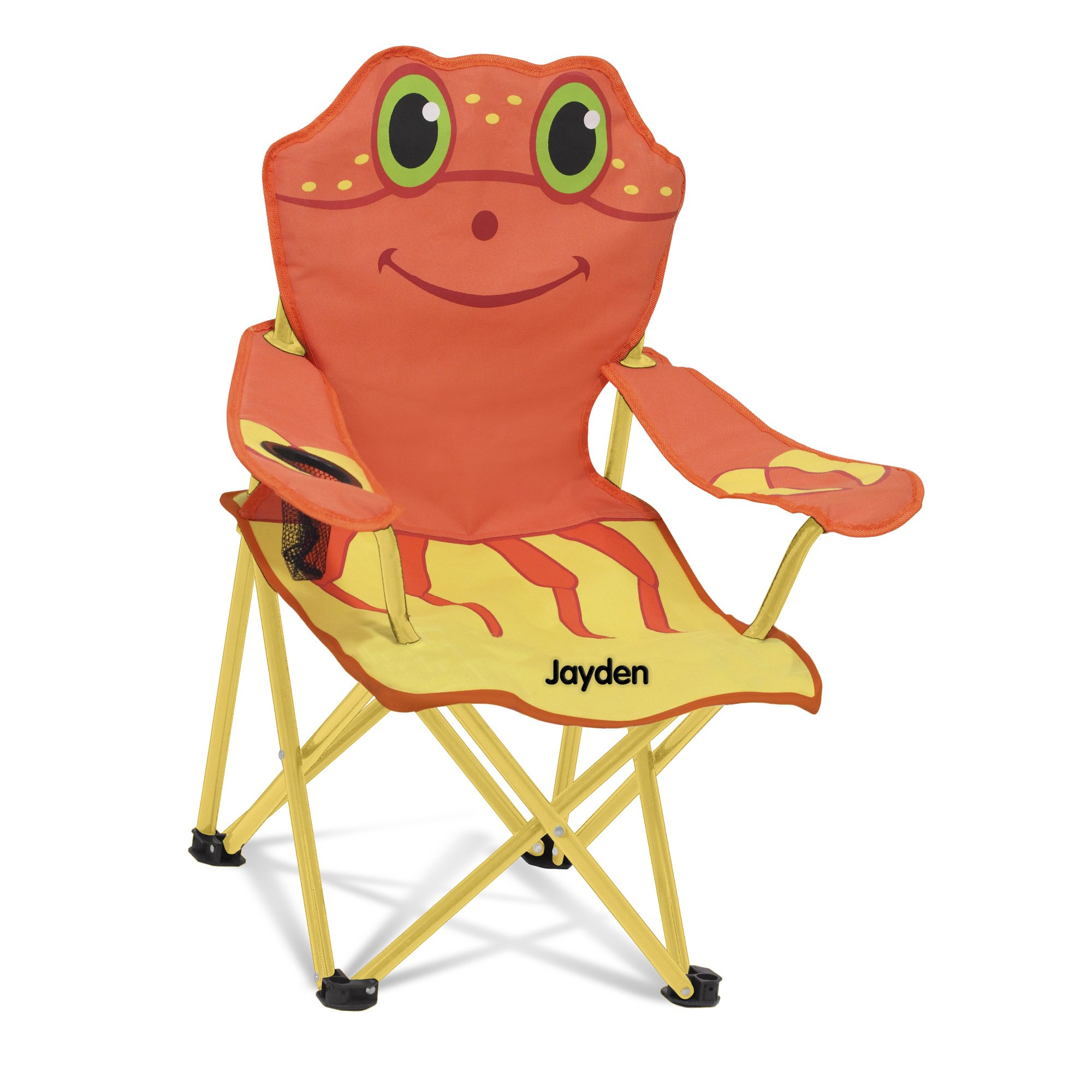 Melissa & Doug Personalized Sunny Patch Clicker Crab Folding Beach Chair For Kids Outdoor