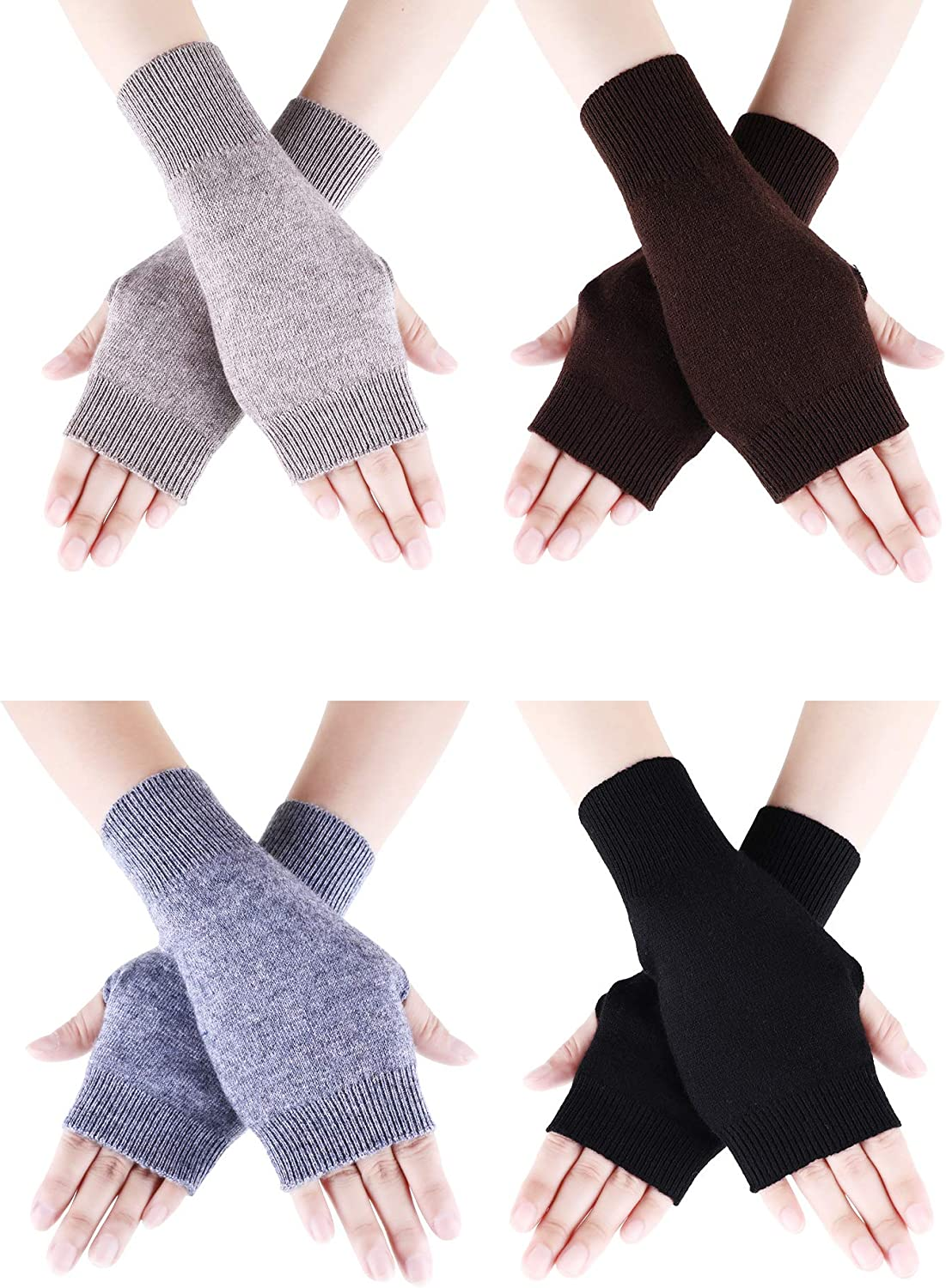 Tatuo 4 Pairs Cashmere Feel...