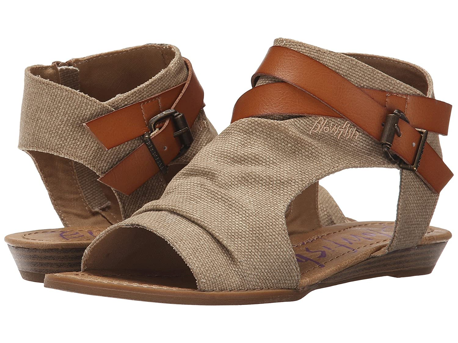Blowfish Women's Balla Wedge Sandal B07C93P19H 36-37 M EU / 6 B(M) US|Desert Sand Rancher/Canvas-dyecut