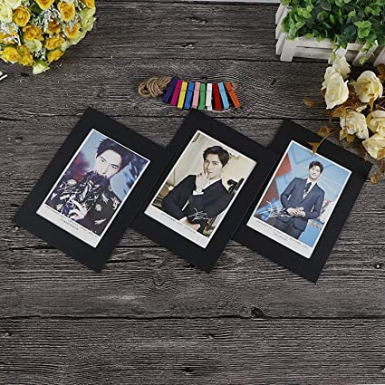 Chitop Cadre Photo Frame with Clips and Rope - 3/4/5/6