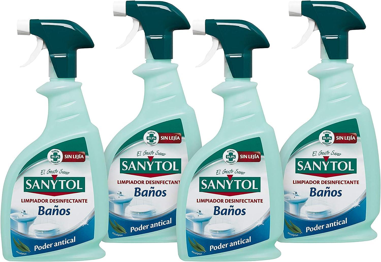 Sanytol - Limpiador Desinfectante para Baños en Spray, Elimina ...