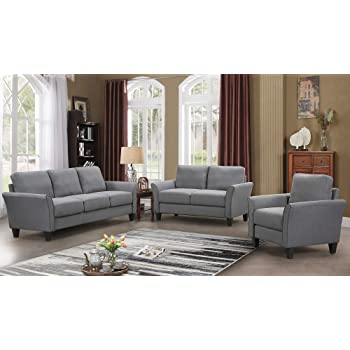 Harperu0026Bright Designs Living Room Sets Living Room Furniture Sofa 3 Piece Sofa  Loveseat Chair Sectional Sofa