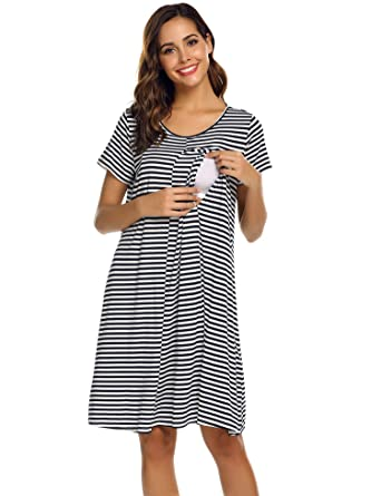 158b04ef33b17 Ekouaer Womens Maternity Dress Labor Delivery Nursing Breastfeeding  Nightgown for Hospital S-XXL at Amazon Women's Clothing store: