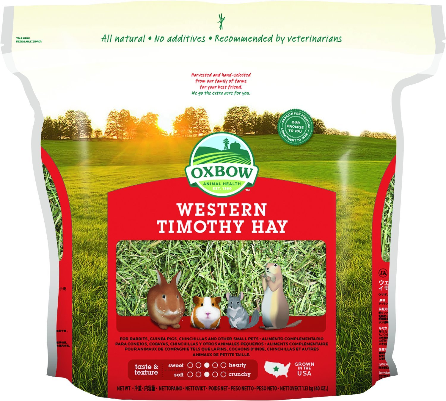 Feeds For Small Herbivores - Oxbow Western Timothy Hay 1.1kg Oxbow Animal Health 744845402758