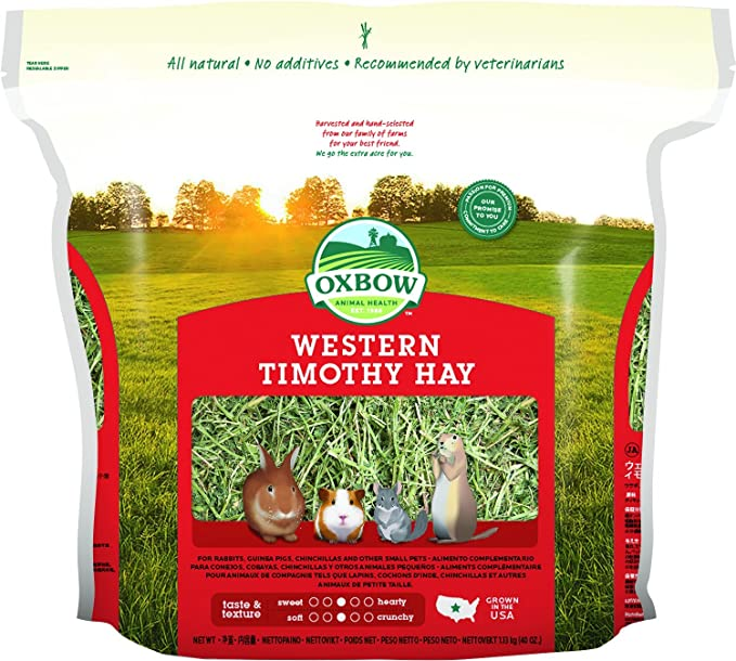 Feeds For Small Herbivores Oxbow Western Timothy Hay 11kg