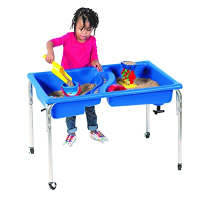 "Children's Factory 24"" Lg. Neptune Double-Basin Table, Daycare/Homeschool/Playroom/Classroom Sensory Table for Toddlers, Kids Sand and Water Playset: Industrial & Scientific"