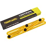 EZ Angle Template Ruler By Vertikem: New Heavy-Duty Extra-Durable Multi-Angle General Measuring Tool-Easy To Use Accurate Angle-izer With Tightening Mechanism-For Builders, Handymen, Craftsmen, More